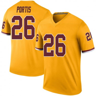 Men's Nike Washington Redskins Clinton Portis Color Rush Jersey - Gold Legend