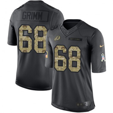 Men's Nike Washington Redskins Russ Grimm 2016 Salute to Service Jersey - Black Limited