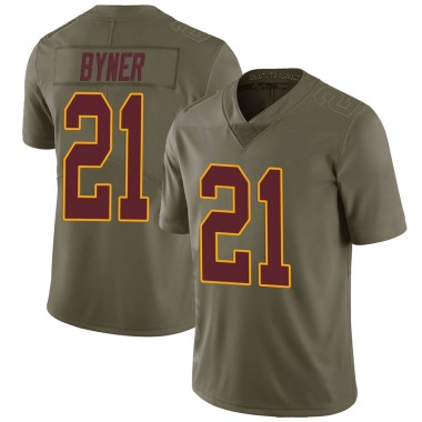 Youth Nike Washington Redskins Earnest Byner 2017 Salute to Service Jersey - Green Limited